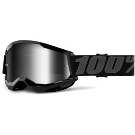 100% Strata Anti-Fog Goggles Gen2 black/mirror
